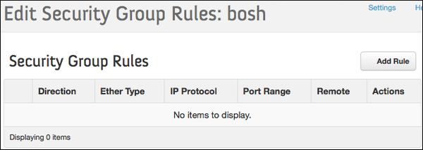 OpenStack - Cloud Foundry BOSH